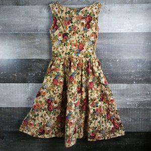 LINDY BOP Floral Sz XS US Sleeveless Dress